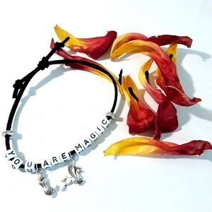 You Are Magic statement beads charm bracelet